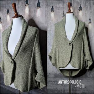 Anthropologie •MOTH Stirabout Cocoon Wrap Sweater